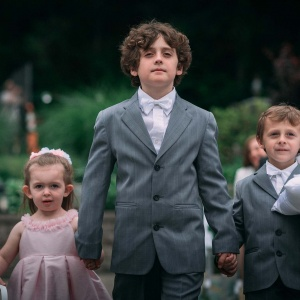 Great Ring Bearer Photo in Aisle